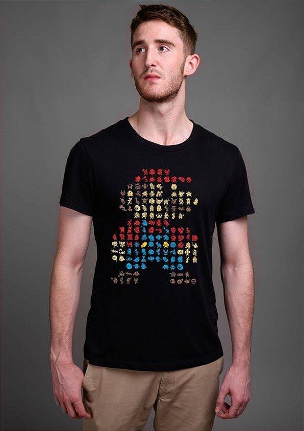 Camiseta Masculina  Super Mario Bros - Nerd e Geek - Presentes Criativos