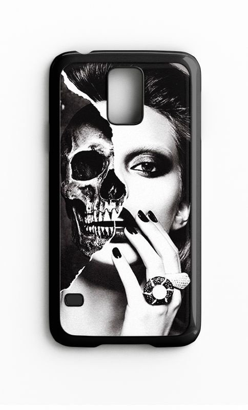 Capa para Celular Girl Skull Galaxy S4/S5 Iphone S4 - Nerd e Geek - Presentes Criativos