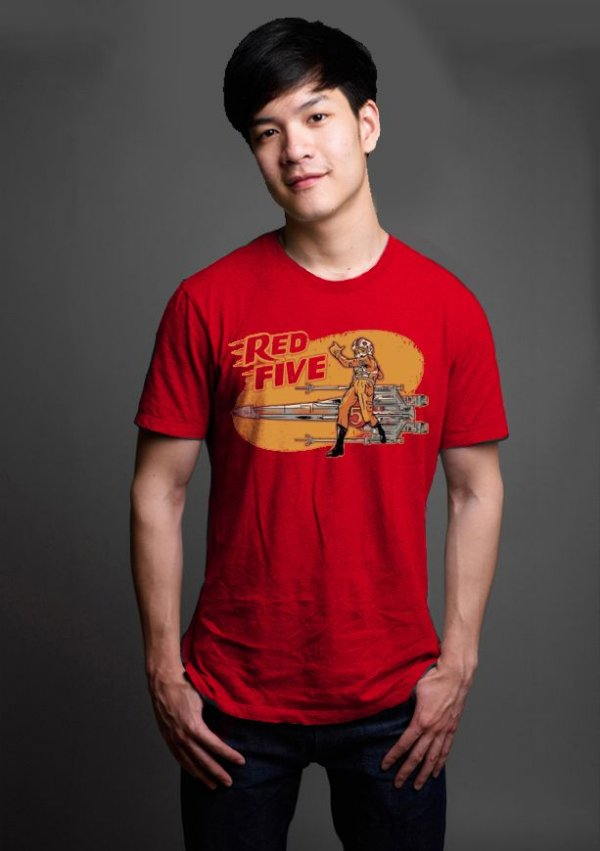 Camiseta Masculina  Red Five - Nerd e Geek - Presentes Criativos