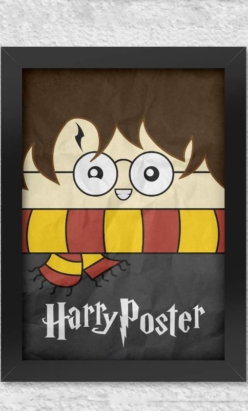 Poster com Moldura Harry Potter  Presentes Criativos