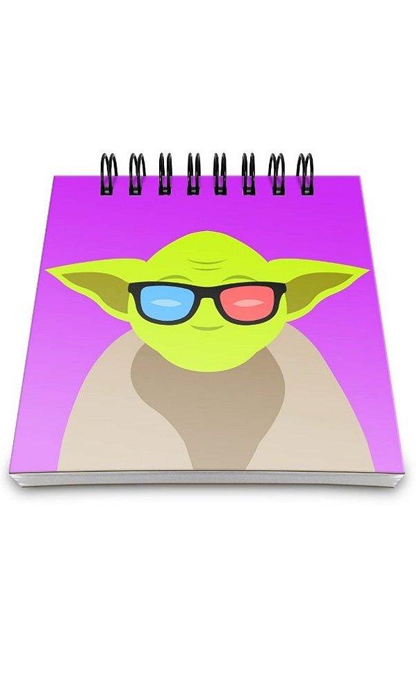 Bloco de Anotações Star Wars  Mestre Yoda Presentes Criativos