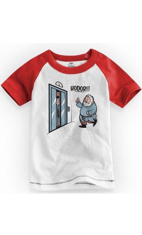 Camiseta Infantil Game of Thrones Hodor - Nerd e Geek - Presentes Criativos