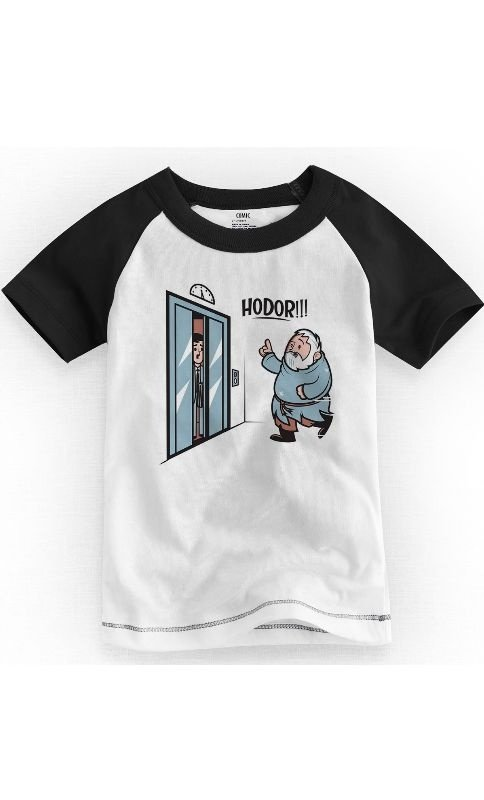 Camiseta Infantil Game of Thrones Hodor 1 - Nerd e Geek - Presentes Criativos