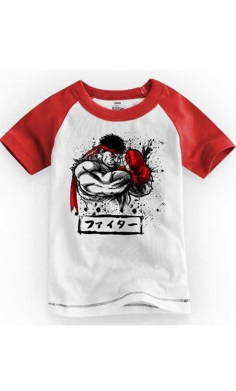Camiseta Infantil Street Fighter Defense 1