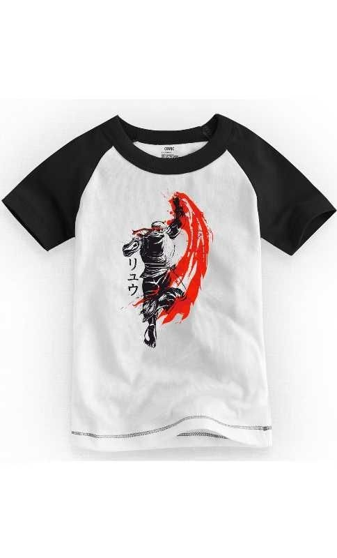 Camiseta Infantil Street Fighter Ryu - Nerd e Geek - Presentes Criativos
