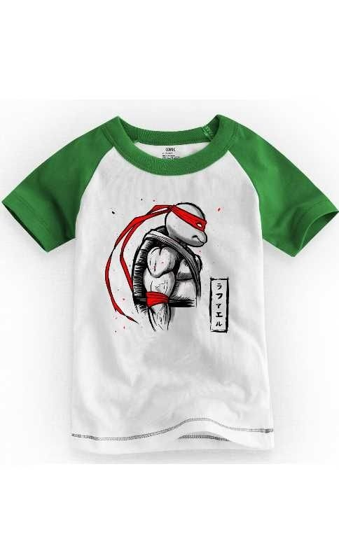 Camiseta Infantil Teenage Mutant Ninja Turtles Rafael 1 - Nerd e Geek - Presentes Criativos