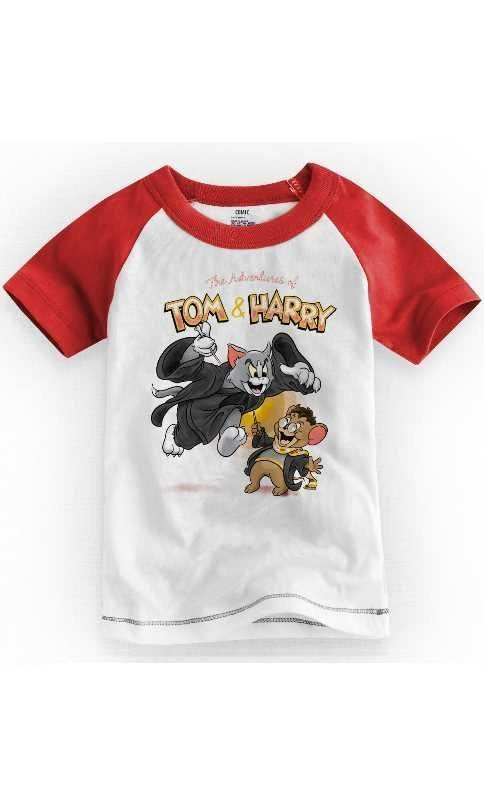 Camiseta Infantil Tom e Jarry - Nerd e Geek - Presentes Criativos