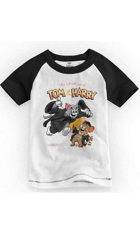 Camiseta Infantil Tom e Jarry 2 - Nerd e Geek - Presentes Criativos