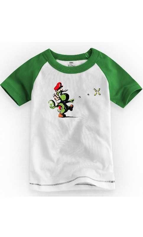 Camiseta Infantil Yoshi Island