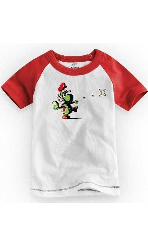 Camiseta Infantil Yoshi Island 1 - Nerd e Geek - Presentes Criativos