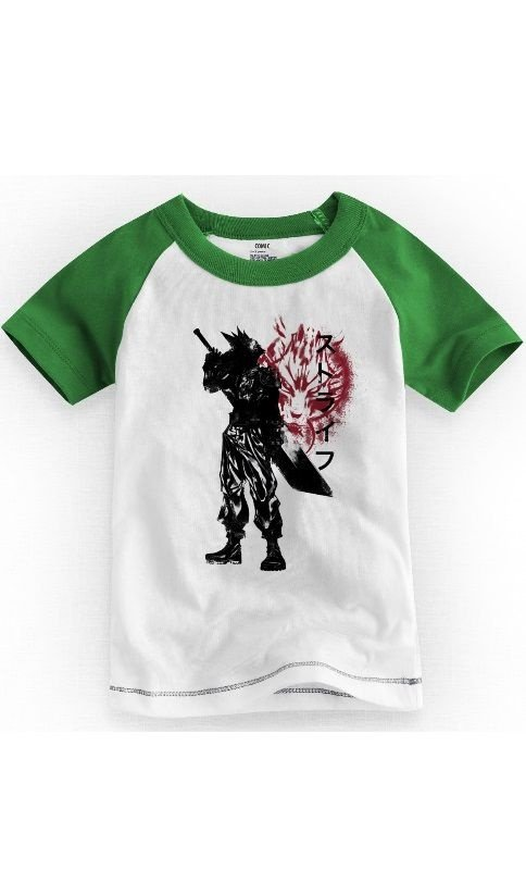 Camiseta Infantil Cloud Strife  Final Fantasy