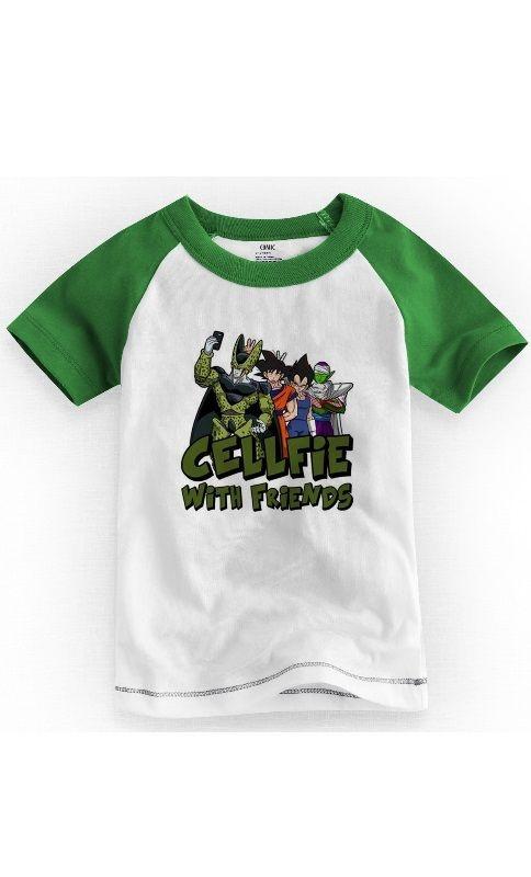 Camiseta Infantil dragon ball Cellfie - Nerd e Geek - Presentes Criativos