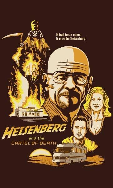 Camiseta Super Heisenberg and Cartel of Death