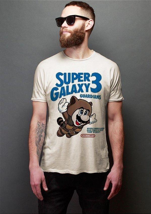 Camiseta Masculina  Super Galaxy 3 - Nerd e Geek - Presentes Criativos