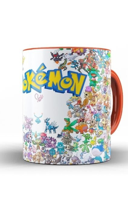 Caneca Anime Pokemon Collection - Nerd e Geek - Presentes Criativos