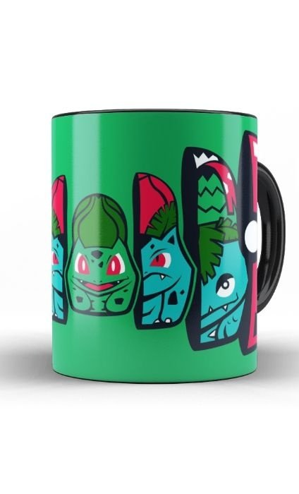Caneca Pokemon Bulbasaur Pokeball