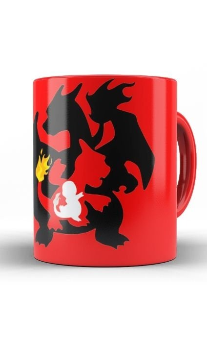 Caneca Anime Pokemon Dragon Charizard - Nerd e Geek - Presentes Criativos