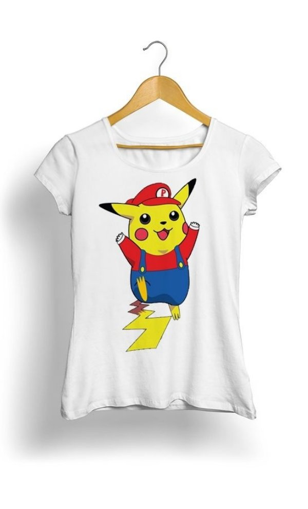 Camiseta Pikachu Mario