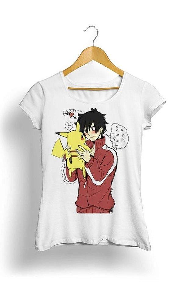 Camiseta Pokemon Pikachu Love Ash