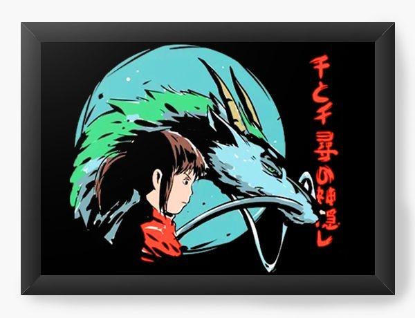 Quadro Decorativo A3 (45x33) Anime A Viagem de Chihiro Spirited Away