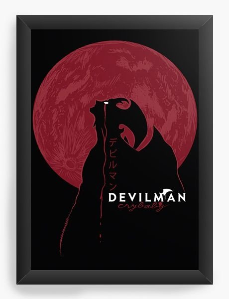 Quadro Decorativo A3 (45x33) Anime Devilman Crybaby Moon