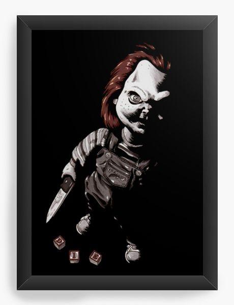 Quadro Decorativo A3 (45x33) Boneco Assassino
