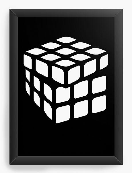Quadro Decorativo A3 (45x33) Cubo Mágico