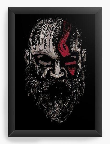 Quadro Decorativo A3 (45x33) Jogo God of War