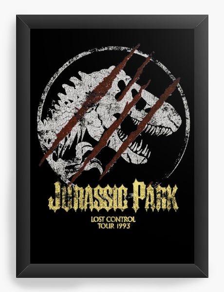 Quadro Decorativo A3 (45x33) Jurassic Park