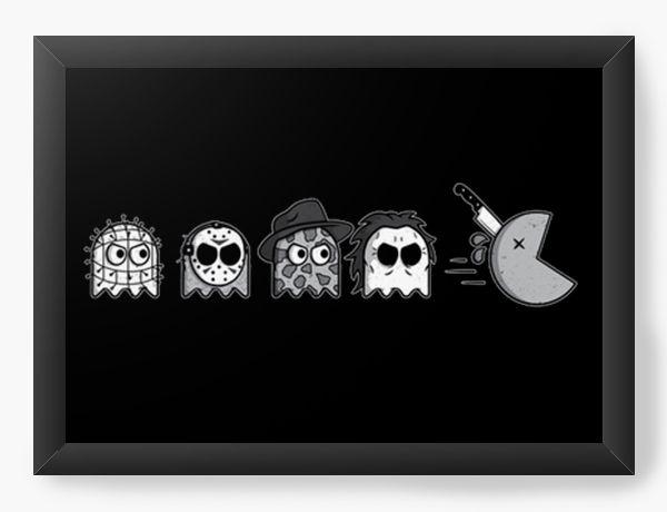 Quadro Decorativo A3 (45x33) Pacman