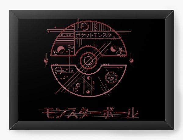 Quadro Decorativo A3 (45x33) Pokemon Pokebola