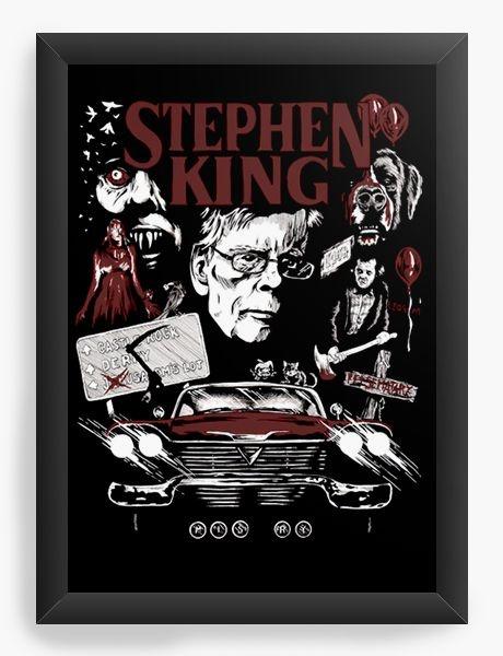 Quadro Decorativo A3 (45x33) Stephen King