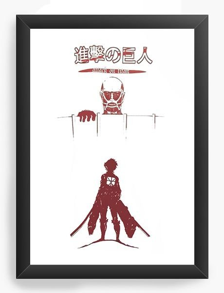Quadro Decorativo A4 (33X24) Anime Attack On Titan
