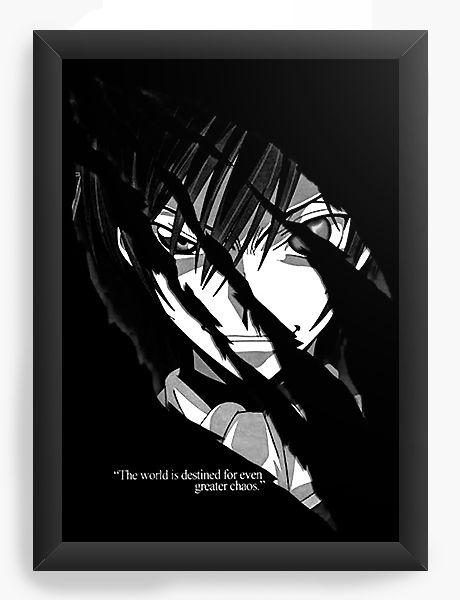 Quadro Decorativo A4 (33X24) Anime Code Geass black