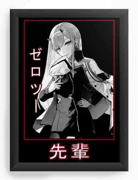 Quadro Decorativo A4 (33X24) Anime Darling in the Franxx