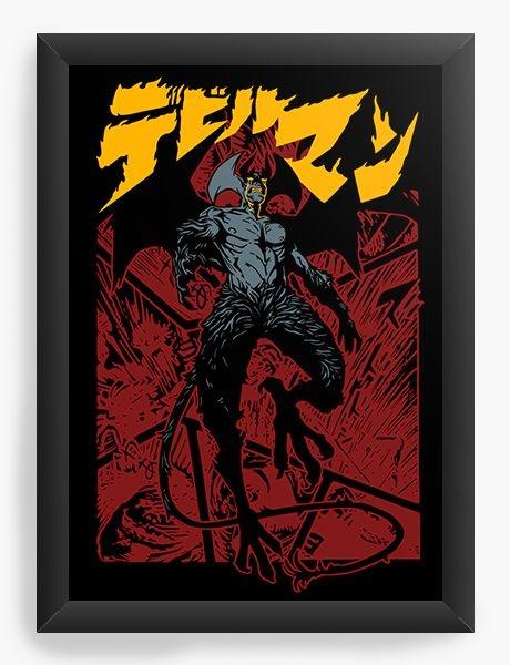 Quadro Decorativo A4 (33X24) Anime Devilman Crybaby