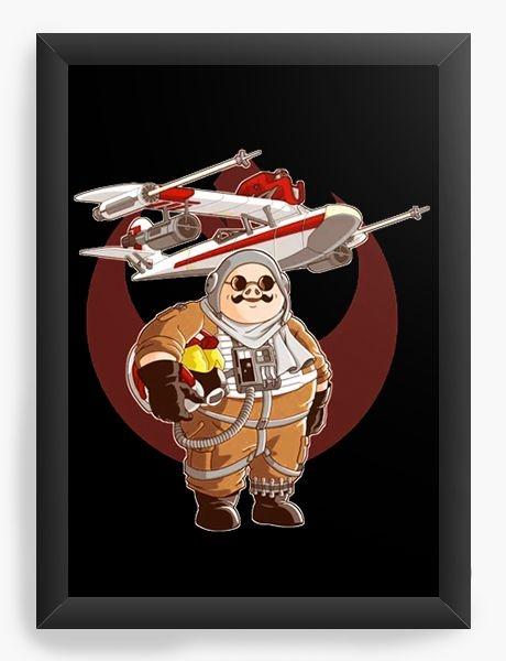 Quadro Decorativo A4 (33X24) Anime Porco Rosso Pilot