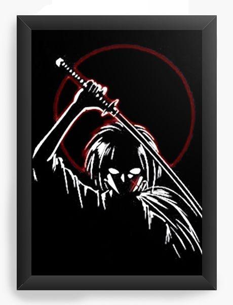 Quadro Decorativo A4 (33X24) Anime Samurai X Evil