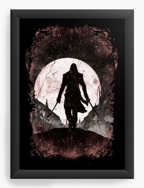 Quadro Decorativo A4 (33X24) Assassins Creed
