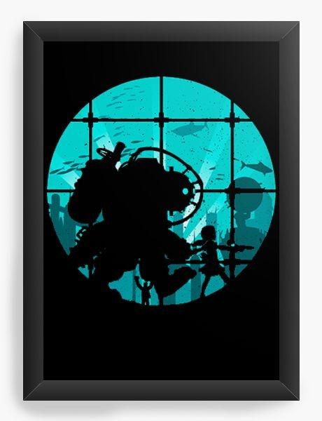 Quadro Decorativo A4 (33X24) Bioshock