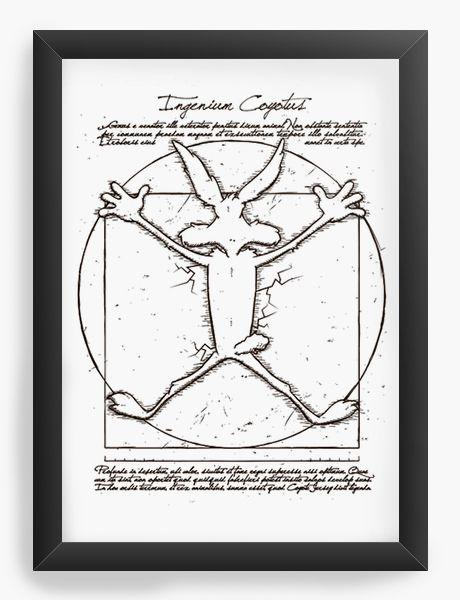 Quadro Decorativo A4 (33X24)  Coiote, Papaleguas