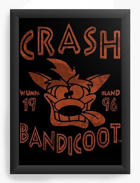Quadro Decorativo A4 (33X24) Crash Bandicoot