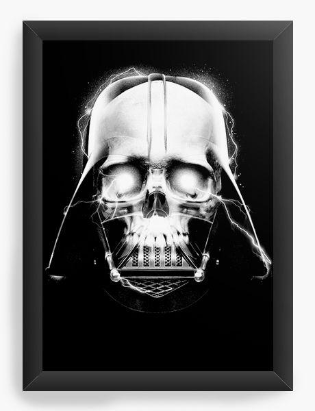 Quadro Decorativo A4 (33X24) Darth Skull