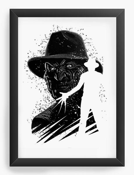 Quadro Decorativo A4 (33X24) Freddy Krueger Horror
