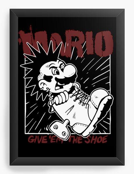 Quadro Decorativo A4 (33X24) Mario Punk