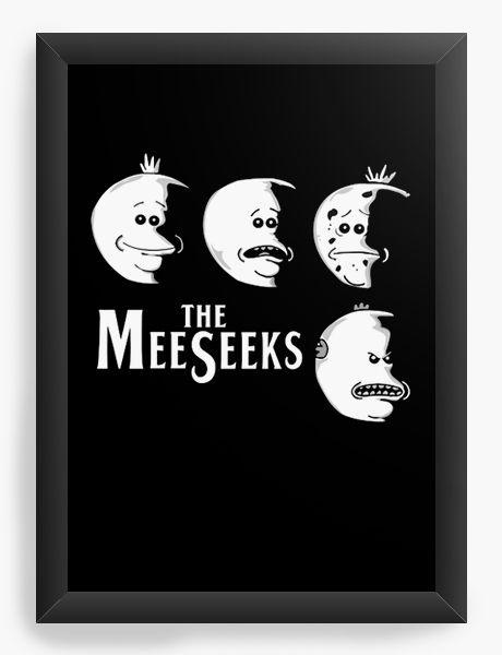 Quadro Decorativo A4 (33X24) Meeseeks Rick
