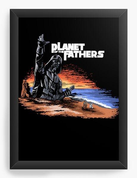 Quadro Decorativo A4 (33X24) Planet