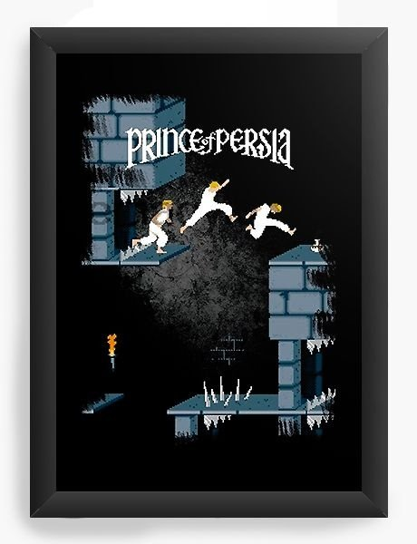 Quadro Decorativo A4 (33X24) Prince of Pérsia Retrô Game