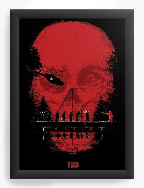 Quadro Decorativo A4 (33X24) Série The Walking Dead TWD