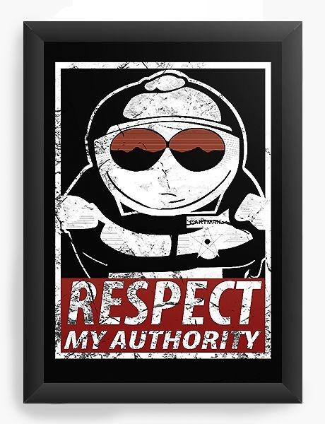 Quadro Decorativo A4 (33X24) South Park Authority